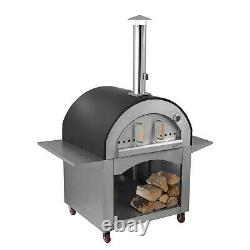 Alfresco Chef Milano Wood Fired Oven Copper With Wheels