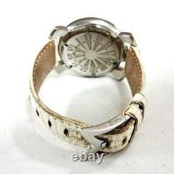 Auth GAGA MILANO MANUALE 40 5020 White 16618 Womens Wrist Watch
