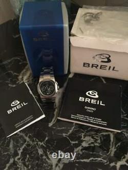 Authentic Designer Breil Milano Chrono Quartz Ladies Watch matte steel os20