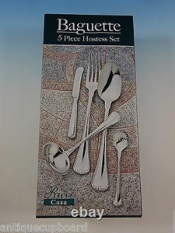 Baguette Milano by Ricci Stainless Flatware Tableware Set Service 12 New 65 Pcs
