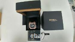 Brand New Breil Milano Eros Gold Plated Chronograph Bw0413 Men's Watch Leather