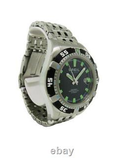 Breil Milano BW0411 Men's Round Black Date Automatic Stainless Steel Watch