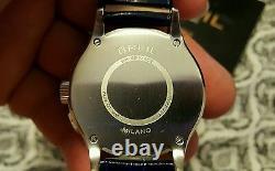 Breil Milano Bw 0563 Chronograph Blue Leather Band Quartz Watch