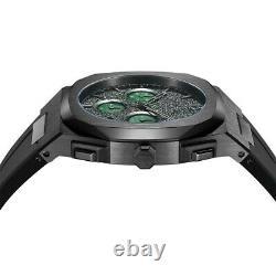 D1 MILANO- RARE- RUSH CHRONOGRAPH 41.5 MM $445.00 Green carbon fibre