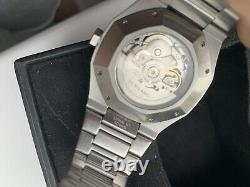 D1 Milano Automatic Steel Skeleton Watch Box (Good condition)