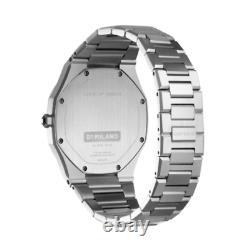 D1 Milano D1-UTBL01 Men's Ultra-thin Silver Brushed 38mm Watch
