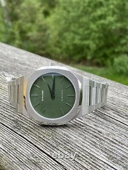 D1 Milano Green Dial Diver Homage Watch 40.5mm Ultra-Thin MINT Full Set
