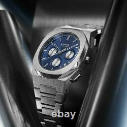 D1 Milano Men's watch chronograph Ionic blue dial sapphire crystal Italian