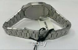 D1 Milano Mens UltraThin 2-hand Watch in Back Dial/stainless steel40mm NEW