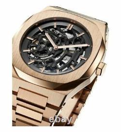 D1 Milano Skeleton Watch 41.5 mm Rose Gold Automatic Steel SKBJ03