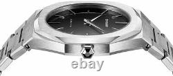 D1 Milano Ultra Thin Black Dial Stainless Steel Men's Watch A-UTB01