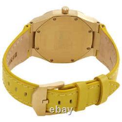 D1 Milano Ultra Thin Quartz Yellow Soleil Dial Ladies Watch UTLL12