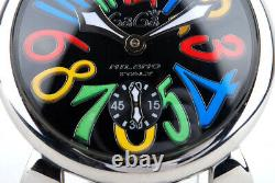 EX++ GAGA Milano Manuale 5010.6 WH Hand-Wound Stainless Steel Watch 48MM
