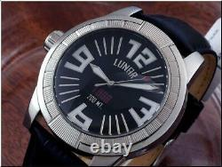 Excellent Mens Grimoldi Milano Lunar 1969 titanium Automatic left hand/ 45 mm