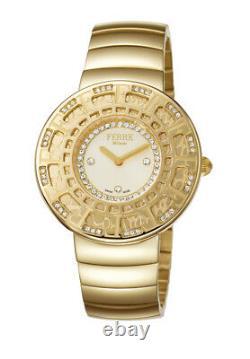 Ferre Milano Women's FM1L014M0051 Diamonds Champagne Dial Gold IP Steel Watch