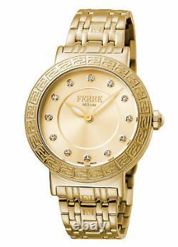 Ferre Milano Women's FM1L041M0181 Gold IP Stainless Steel Wristwatch
