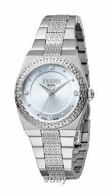 Ferre Milano Women's FM1L091M0011 Light Blue Dial Stainless Steel Wristwatch