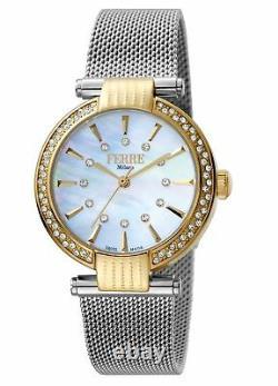 Ferre Milano Women's FM1L096M0101 MOP Dial Two-Tone Stainless Steel Wristwatch