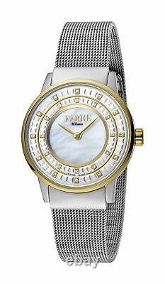 Ferre Milano Women's FM1L102M0091 Silver Dial Stainless Steel IP Mesh Bracelet