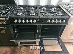 Flavel Milano 100 Dual Fuel Range Cooker 100cm Width Silver Colour