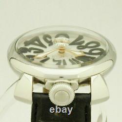 GAGA MILANO MANUALE 48MM Ref. 5010.07S winding men's waterproof White Dial