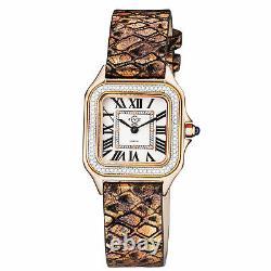 GV2 by Gevril Women's 12101A Milan Diamond Printed Leather Swiss Quartz Watch