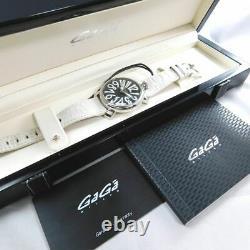 GaGa MILANO 5020 Manuale 40 BLACK SHELL WOMENS WATCH ITALY QUARTZ WITH BOX