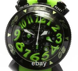 GaGa MILANO Chrono 48 6054.02 Date black Dial Quartz Men's Watch 562405