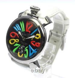 GaGa MILANO Manuale 48 5010.02 black Dial Hand Winding Men's Watch 472259