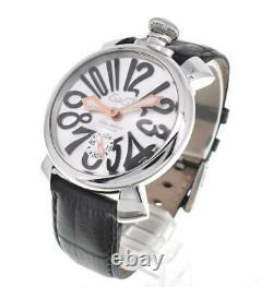 GaGa MILANO Manuale 48 5010.07S Silver Dial Hand Winding Men's Watch U#101233