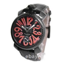 GaGa MILANO Manuale 48 black Dial Hand Winding Men's Watch O#98844