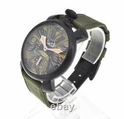 GaGa MILANO Manuale 48 camouflage 5012.5S Hand Winding Men's Watch J#103165