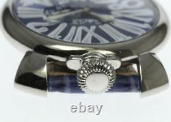 GaGa MILANO Manuale Slim 46 5084.3 Small seconds blue Dial Quartz Men's 571050