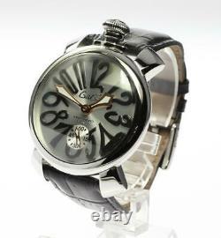 GaGa MILANO Manuale48 5010.7 Silver Dial Hand Winding Men's Watch 563458