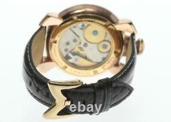 GaGa MILANO Manuale48 5011.06 Silver Dial Hand Winding Men's Watch 594768