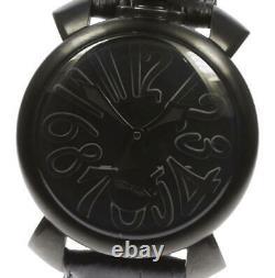 GaGa MILANO Manuale48 5012.02 black Dial Hand Winding Men's Watch 578447