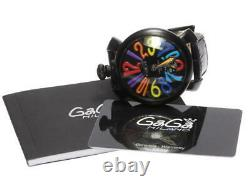 GaGa MILANO Manuale48 5012.03S black Dial Hand Winding Men's Watch 542850