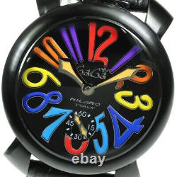 GaGa MILANO Manuale48 5012.03S black Dial Hand Winding Men's Watch 639346