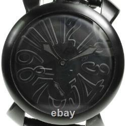 GaGa MILANO Manuale48 5012.2 Small seconds black Dial Hand Winding Men's 640352