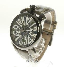 GaGa MILANO Manuale48 5012. MOSAICO1 Hand Winding Men's Watch 555575