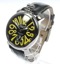 GaGa MILANO Manuale48 Ref. 5010.12 black Dial Hand Winding Men's Watch 480143