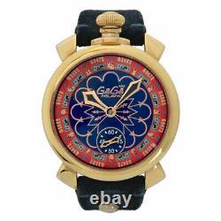GaGa MILANO Manuare 48MM Ref. 5011. LAS VEGAS Casino pattern SS/Leather