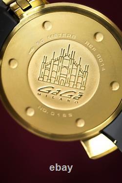 GaGà Milano Chrono Men's Quartz Watch 48 Gold PVD