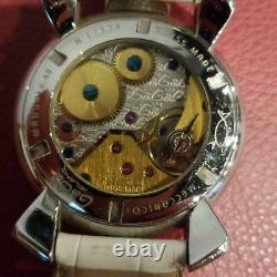 GaGa Milano MANUALE 48MM watch used Manual winding watch White with box