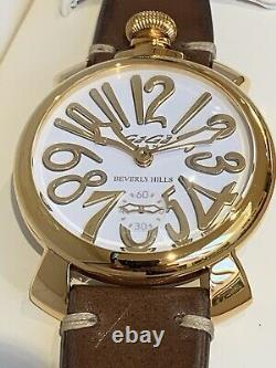 GaGa Milano Manuale 48 Beverly Hills Model No 5011. LE. BH. 2 Limited Edition Watch