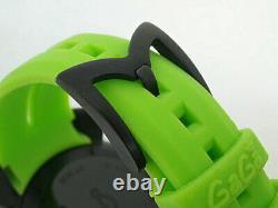 GaGa Milano Manuale Chrno 6054.2 SS Rubber Belt Quartz Men's Watch Used Ex++