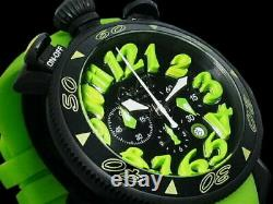 GaGa Milano Manuale Chrno 6054.2 SS Rubber Belt Quartz Mens Watch Used Authentic