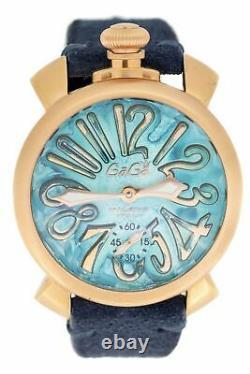 GaGà Milano Manuale Men's Mechanical Watch 48MM Vintage Blue