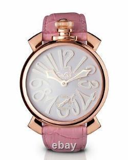 GaGà Milano Manuale Women's Mechanical Watch 48MM Pink Rose Gold