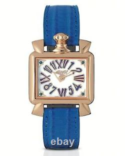 GaGà Milano Quartz Watch Baby Napoleone Blue Strap 30MM Rose Gold Plated 6036.04